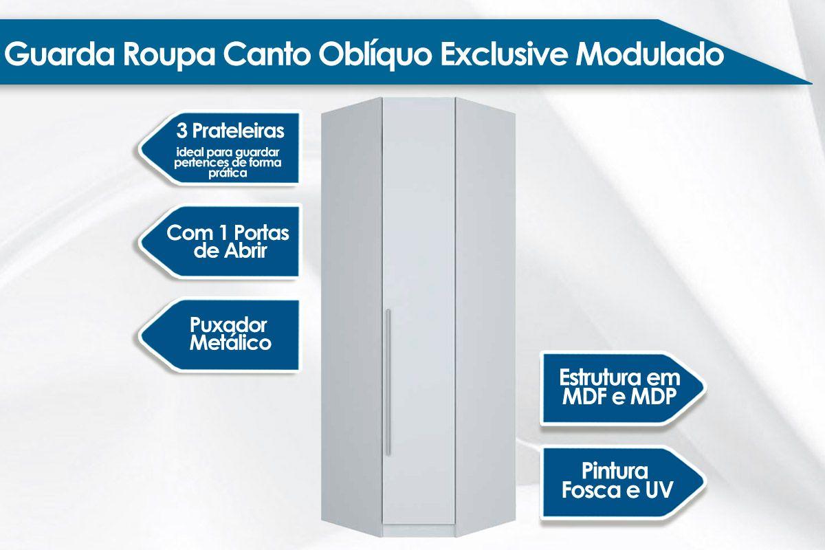 Guarda Roupa Modulado Henn Exclusive Canto Oblíquo 1 Porta