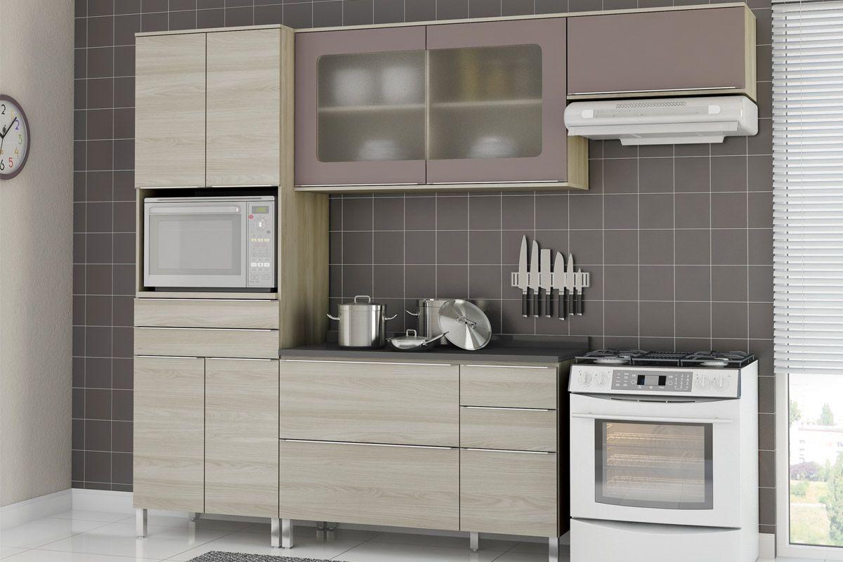 Cozinhas Completas com Armário Aéreo Kappesberg Versatti 2 Portas  #615C50 1200 800