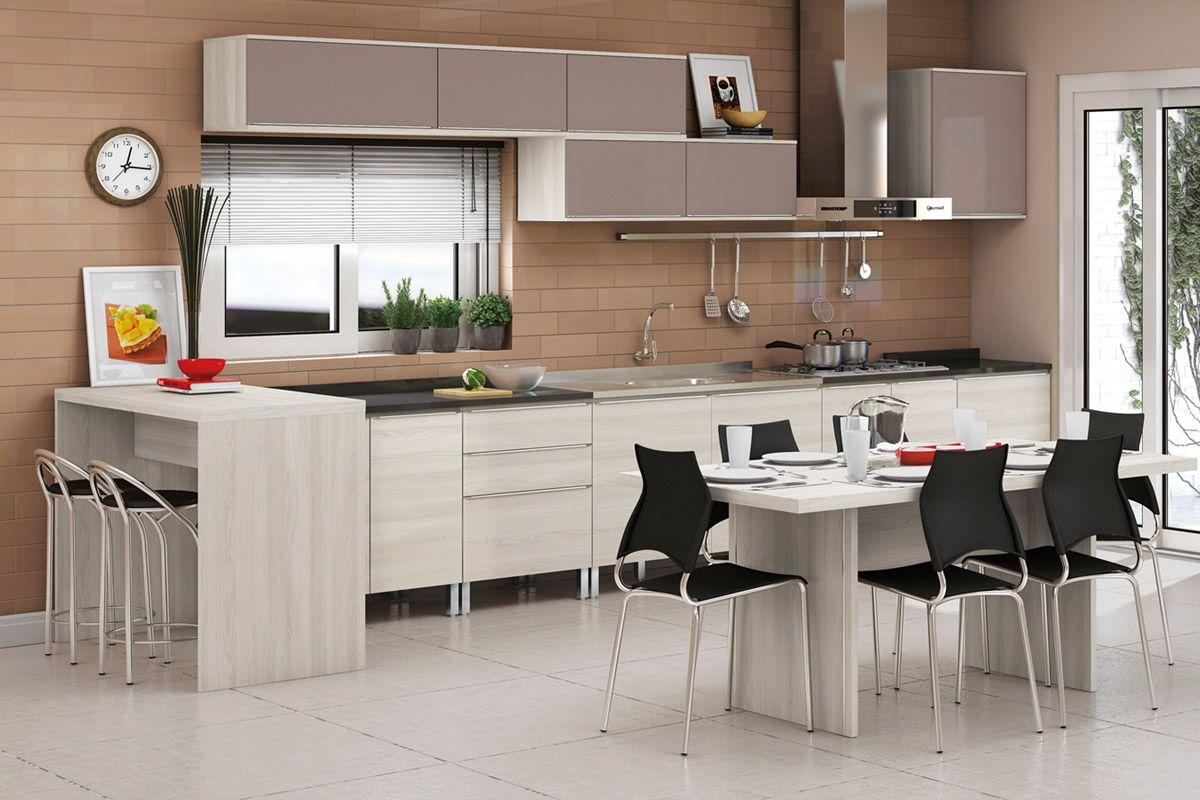 Cozinhas Completas com Bancada para Cozinha Kappesberg Versatti C647: #AE231D 1200 800