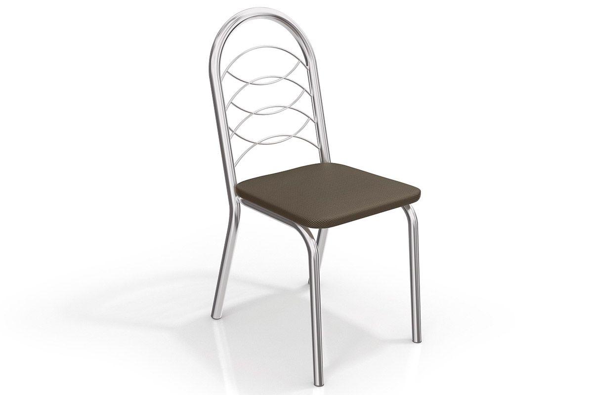 Caixa c/ 2 Cadeiras Kappesberg Holanda 2C009CRCor Cromado  -  Assento Marrom 21