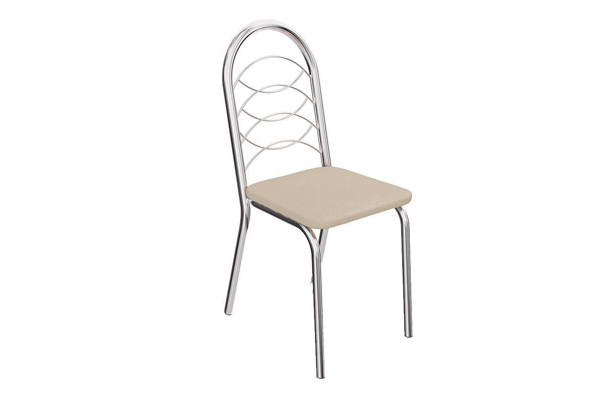 Caixa c/ 2 Cadeiras Kappesberg Holanda 2C009CRCor Cromada  -  Assento Nude 16