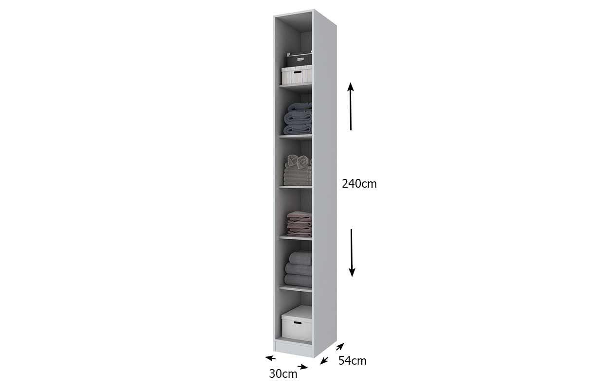 Guarda Roupa / RoupeiroHenn Exclusive 1 Porta 30cm (Componível)