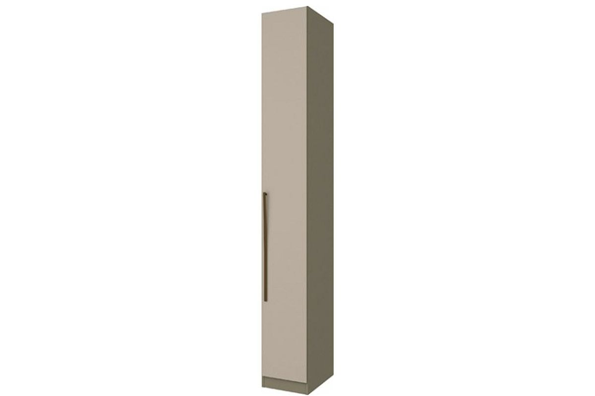 Guarda Roupa / RoupeiroHenn Exclusive 1 Porta 30cm (Componível)Cor Duna c/ Cristal