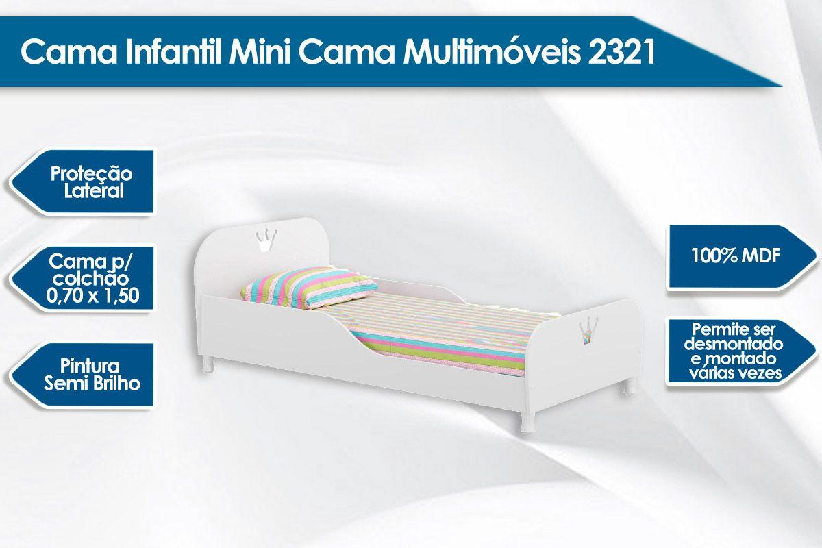 Mini Cama Multimóveis Rainha/Rei 2321