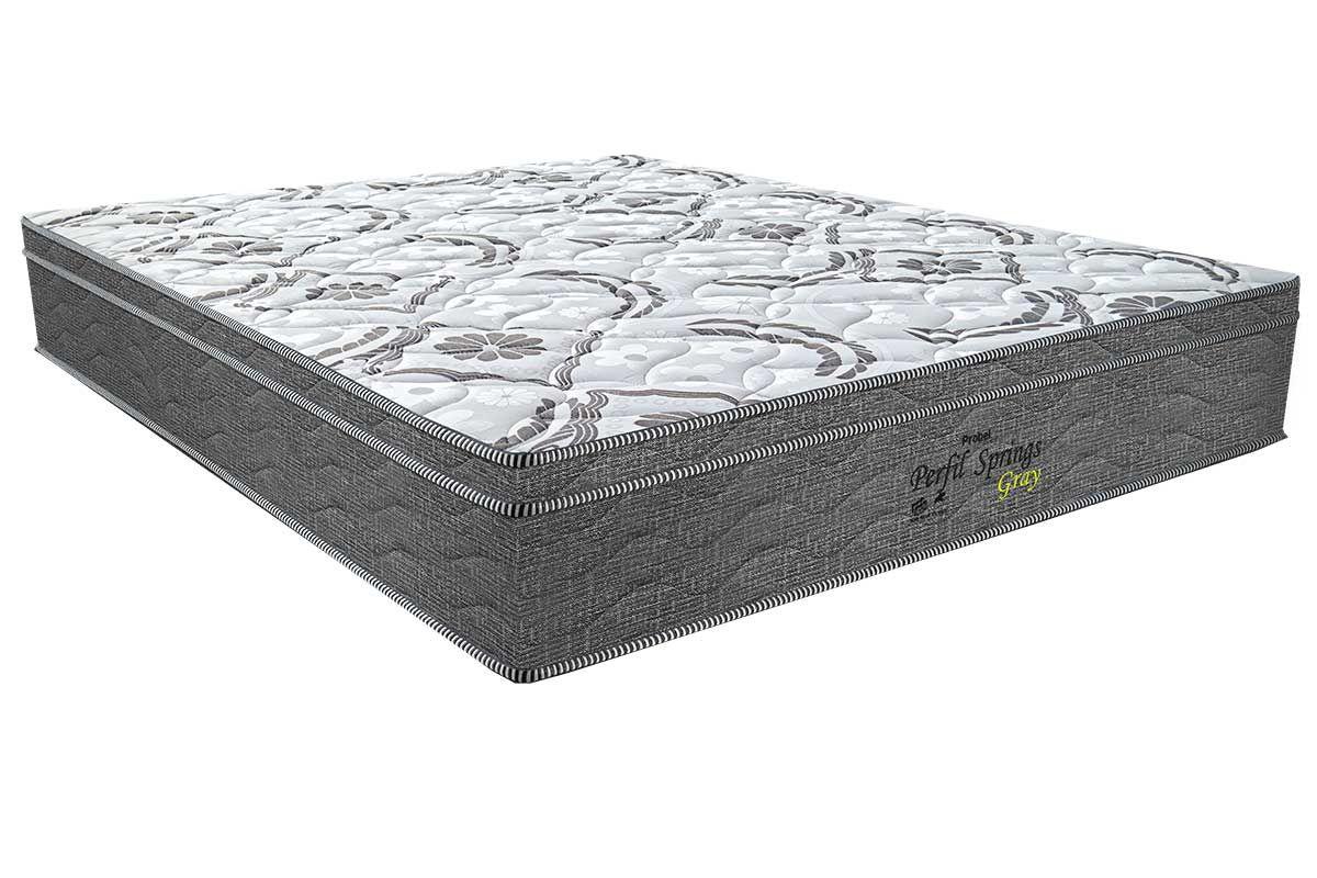 Colchão Probel Molas Pocket Perfil Springs GrayColchão Casal - 1,38x1,88x0,30 - Sem Cama Box