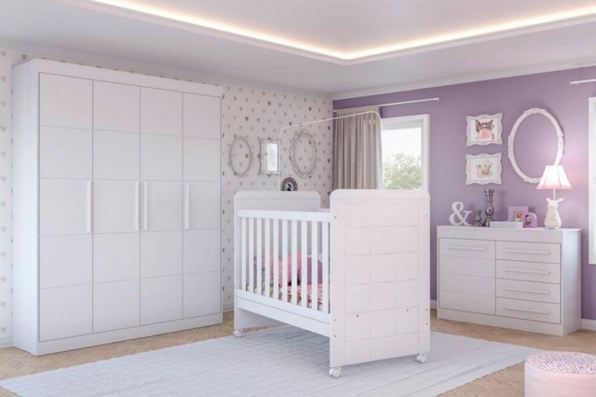 Quarto Infantil (Bebê) Completo Multimóveis Chocolate Plus QI29