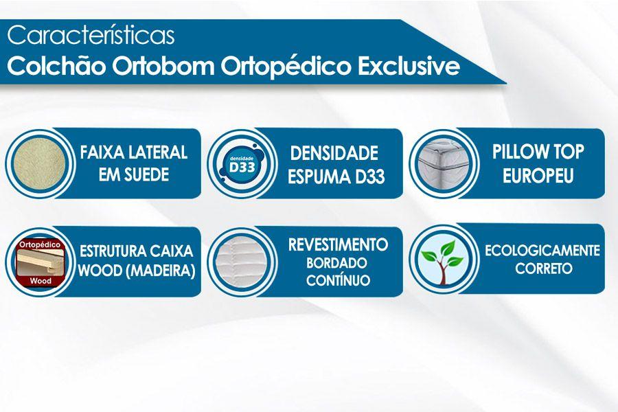 Colchão Ortobom Exclusive Ortopédico