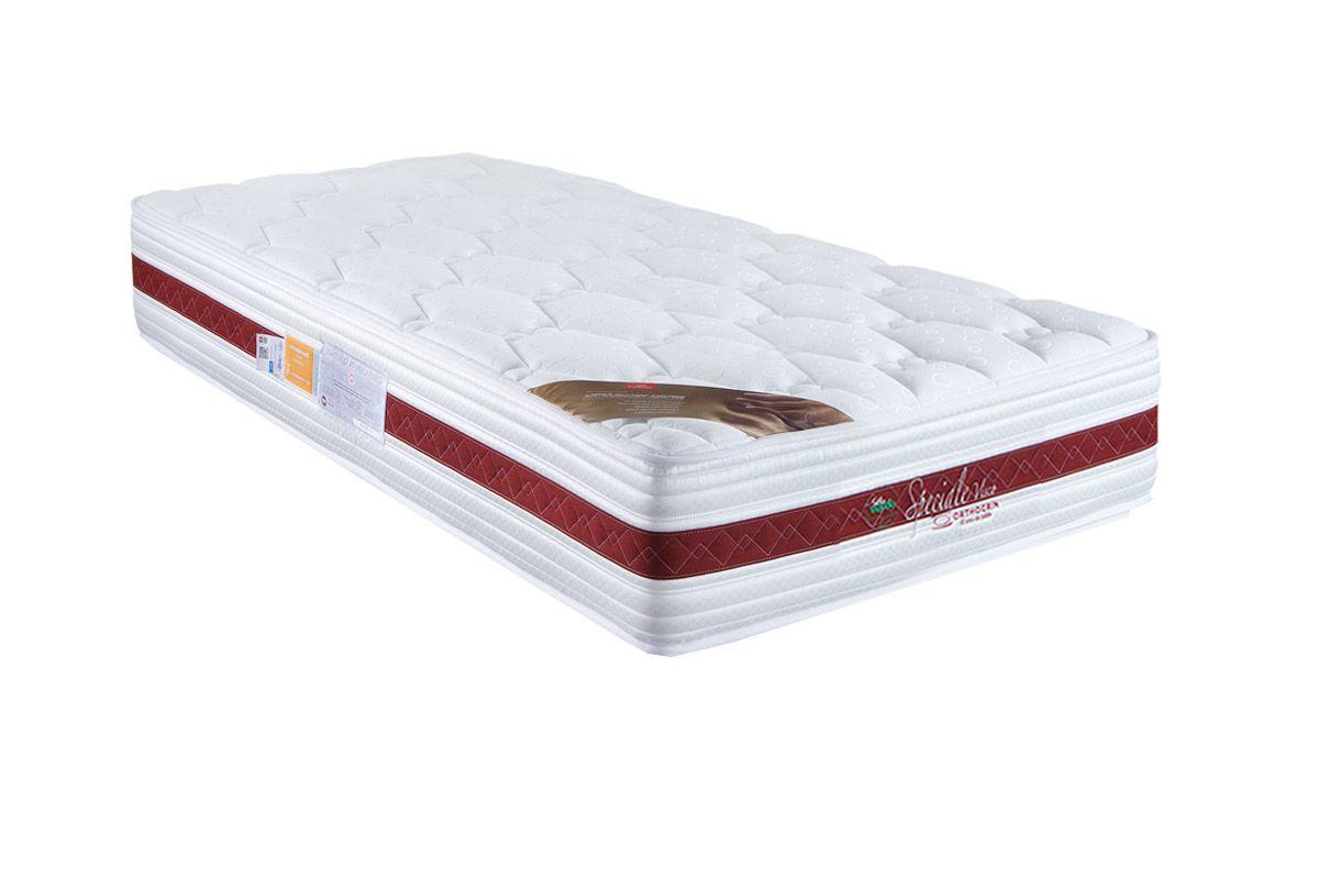 Colchão Orthocrin Molas Pocket Speciale WhiteColchão Solteiro - 0,88x1,88x0,28 - Sem Cam Box