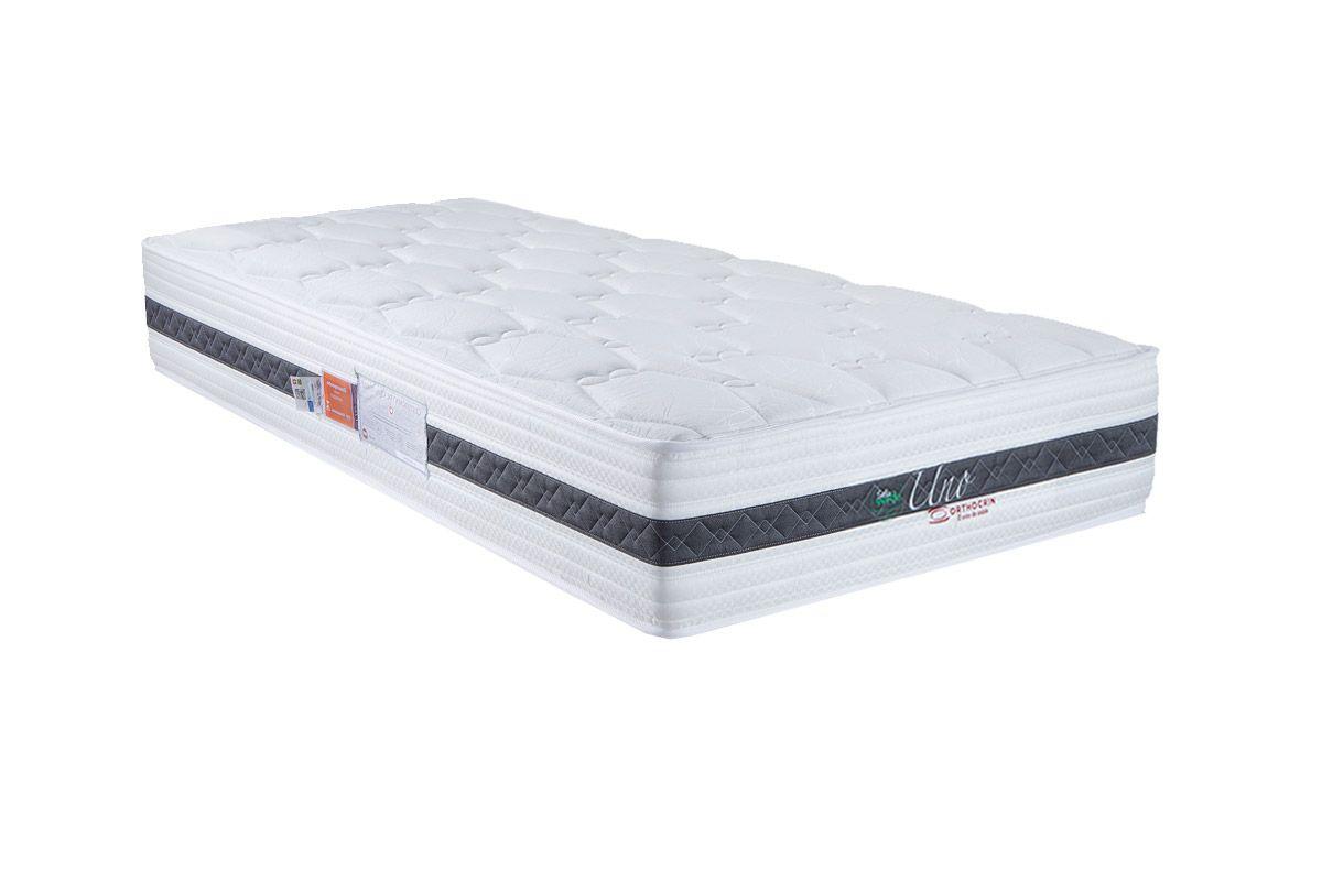 Colchão Orthocrin de Molas Pocket Uno Euro PillowColchão Solteiro - 0,88x1,88x0,28 - Sem Cam Box