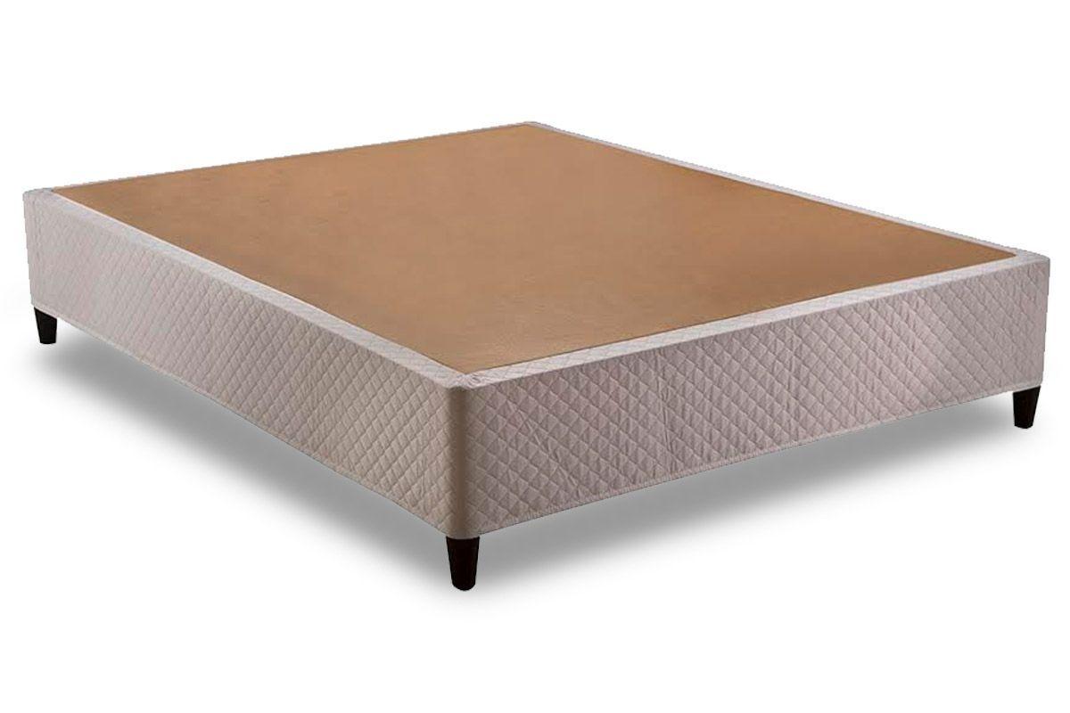 Euro Cama Herval Tecido BrancoCama Box Queen Size - 1,58x1,98x0,28 - Sem Colchão