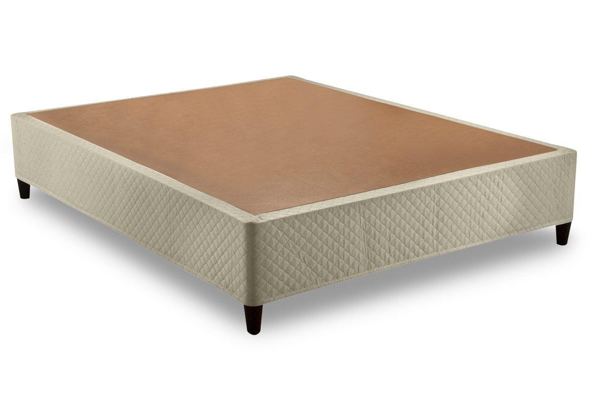 Euro Cama Herval Tecido BegeCama Box Queen Size - 1,58x1,98x0,28 - Sem Colchão