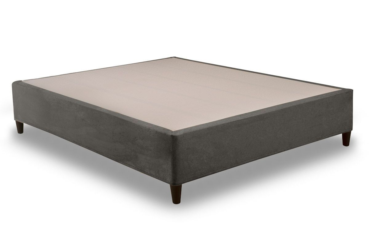 Euro Cama Herval Suede GrafiteCama Box Queen Size - 1,58x1,98x0,28 - Sem Colchão