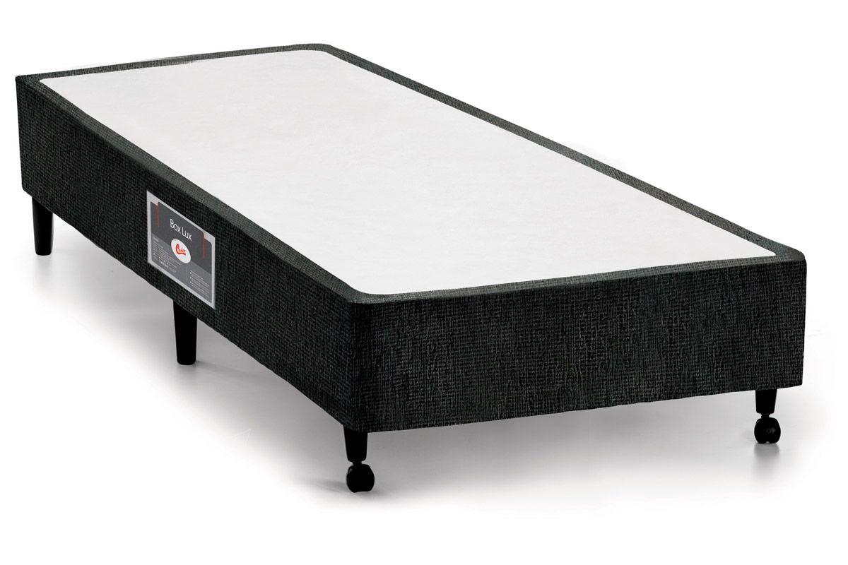 Cama Box Castor SI Lux PretoCama Box Solteiro - 0,88x1,88x0,23 - Sem Colchão