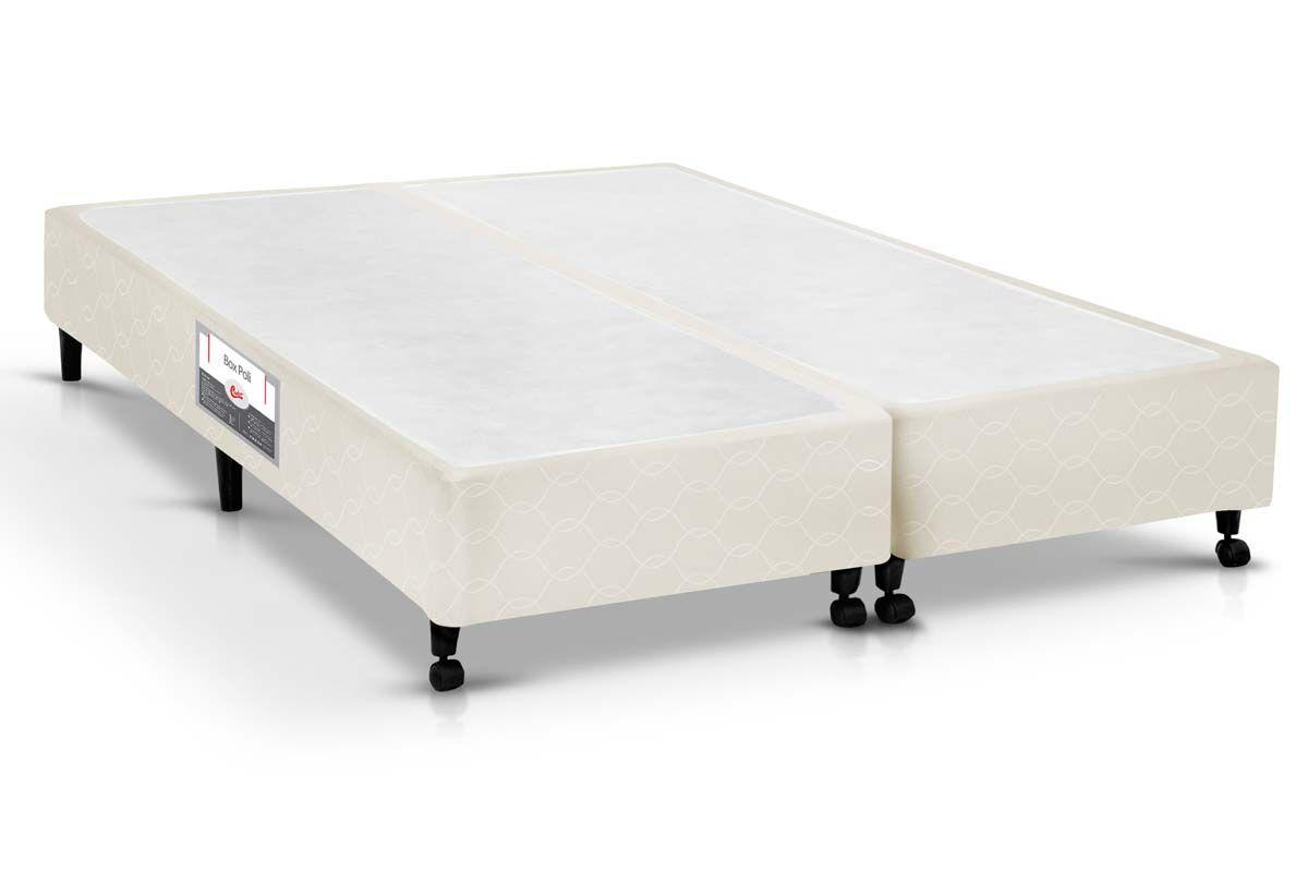 Cama Box Castor SI Poli BegeCama Box Queen Size - 1,58x1,98x0,23 - Sem Colchão