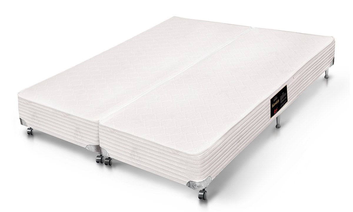 Cama Box Castor SI Kingdom A.VeraCama Box Queen Size - 1,58x1,98x0,23 - Sem Colchão