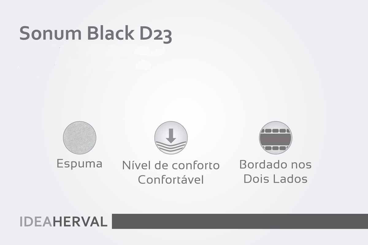 Colchão Herval Espuma D23 Sonnum Black