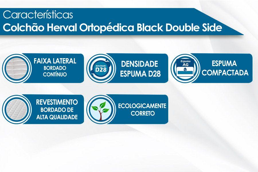 Colchão Herval de Espuma Ortopédica Black Double Side
