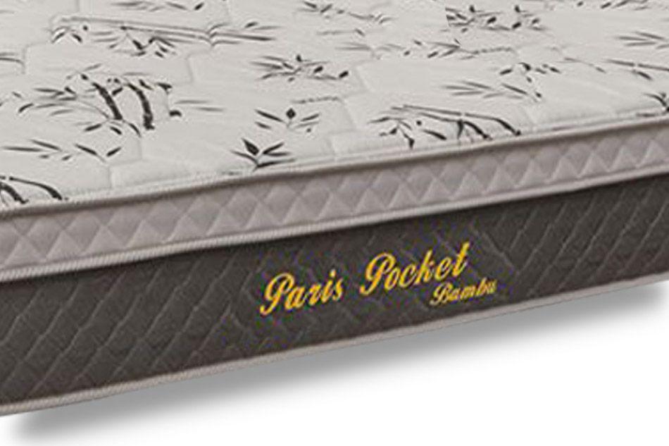 Colchão Herval Molas Pocket Paris Bambu