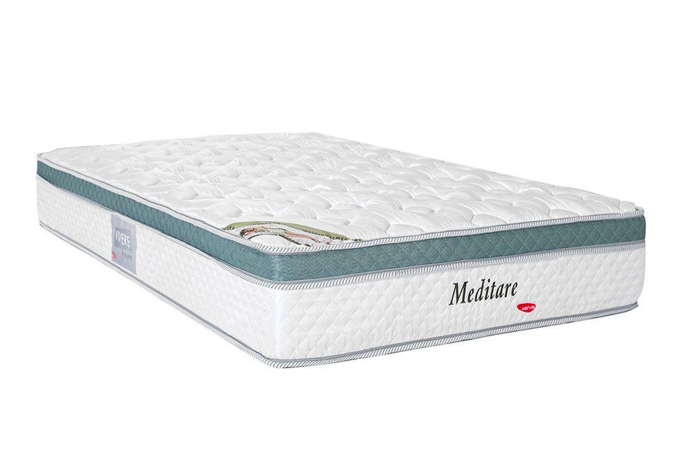 Colchão Herval Molas Pocket Meditare PilowColchão Solteiro - 0,88x1,88x0,29 - Sem Cama Box