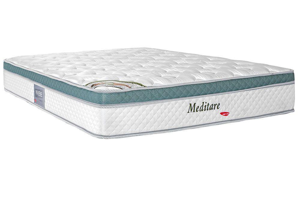 Colchão Herval Molas Pocket Meditare PilowColchão Queen Size - 1,58x1,98x0,29 - Sem Cama Box