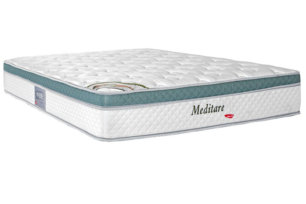 Colchão Herval Molas Pocket Meditare PilowColchão King Size - 1,93x2,03x0,29 - Sem Cama Box