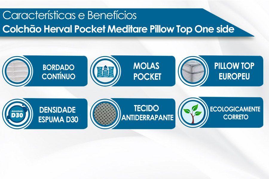 Colchão Herval Molas Pocket Meditare Pilow