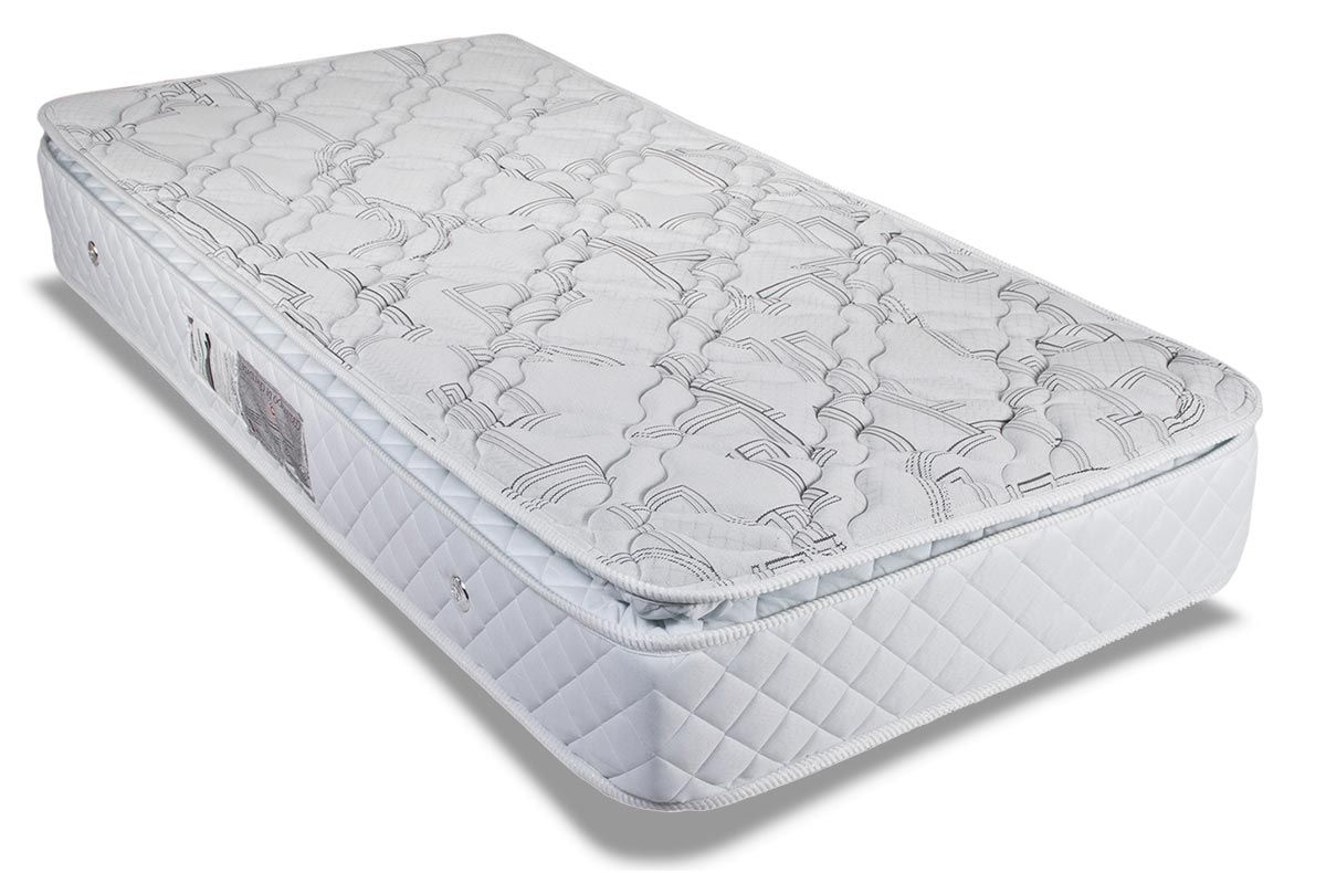 Colchão Luckspuma Molas Pocket Satisfaction Plus Pillow Duplo BrancoColchão Solteiro - 0,88x1,88x0,30 - Sem Cama Box