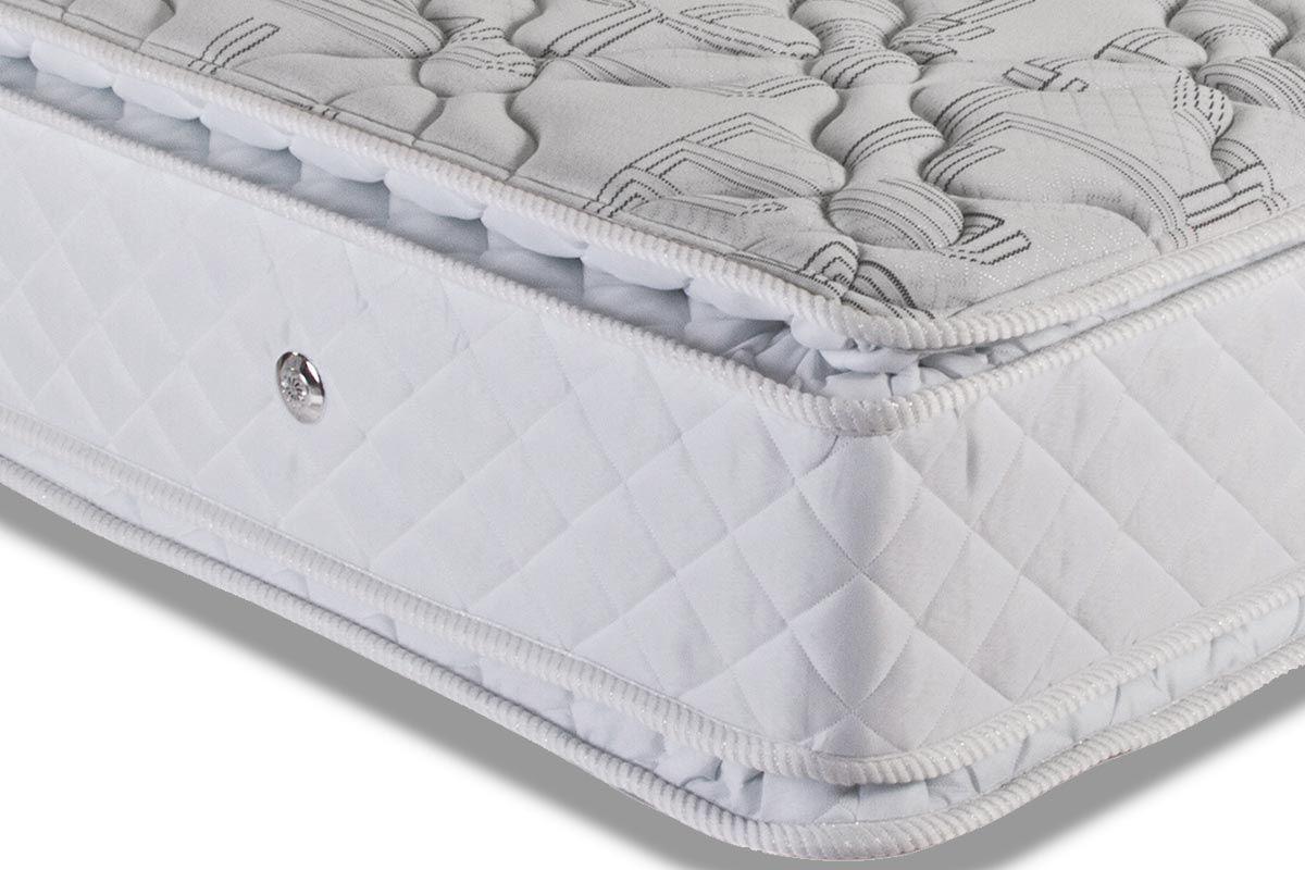 Colchão Luckspuma Molas Pocket Satisfaction Plus Pillow Duplo Branco