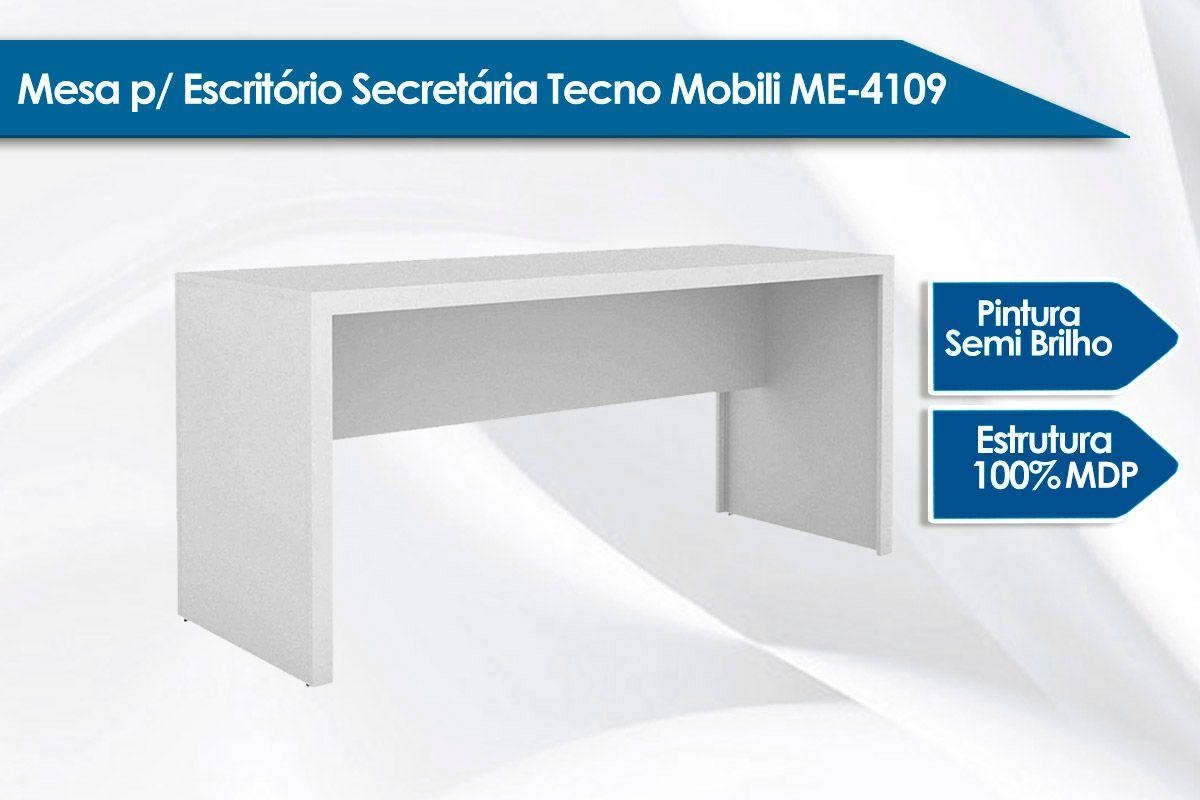 Mesa p/ Escritório Secretária Tecno Mobili ME4109