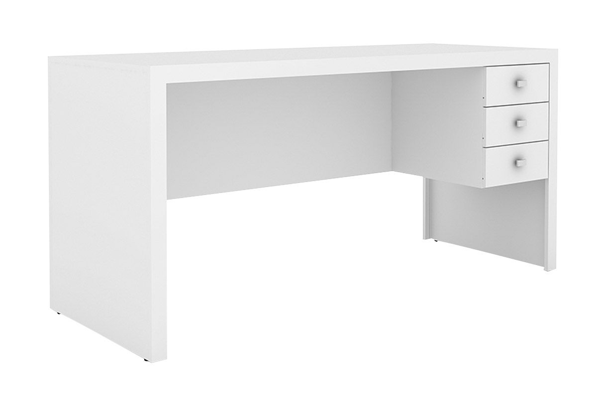 Mesa p/ Escritório Secretária Tecno Mobili ME-4113Cor Branco