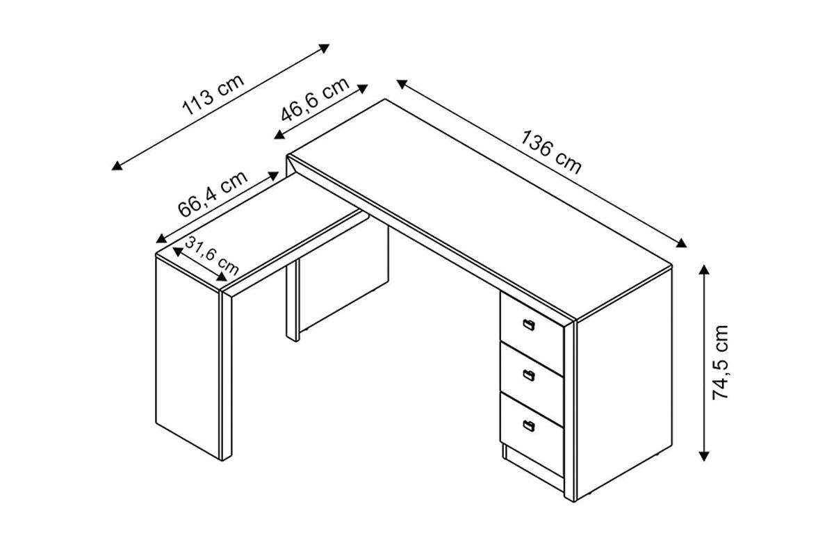 Mesa p/ Escritório Tecno Mobili ME-4101