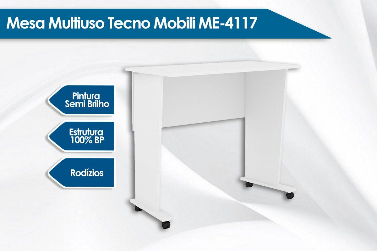 Mesa Multiuso Tecno Mobili ME-4117 Dobrável