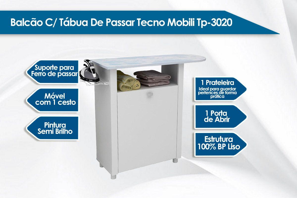 Balcão c/ Tábua de Passar Tecno Mobili TP-3020