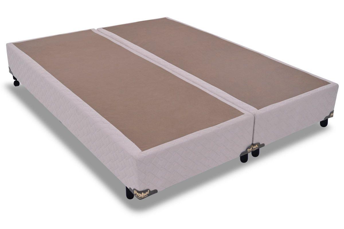 Cama Box Base Probel Suede MarfimCama Box Queen Size - 1,58x1,98x0,25 - Sem Colchão