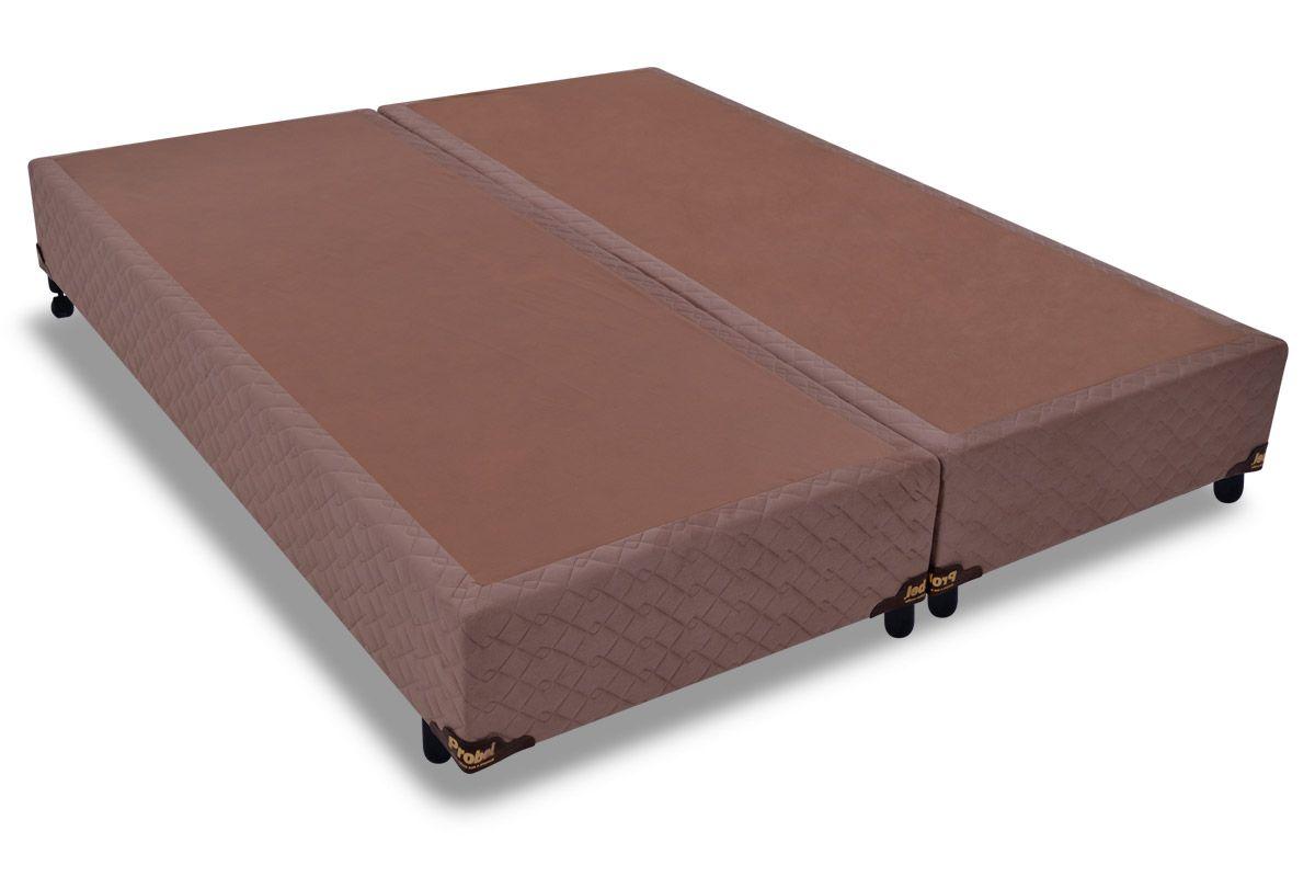 Cama Box Base Probel Suede CamurçaCama Box Queen Size - 1,58x1,98x0,25 - Sem Colchão