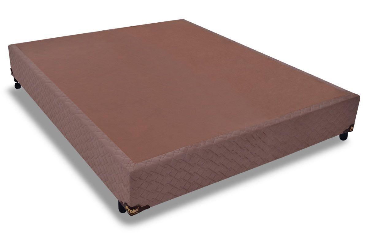 Cama Box Base Probel Suede CamurçaCama Box Casal - 1,28x1,88x0,25 - Sem Colchão