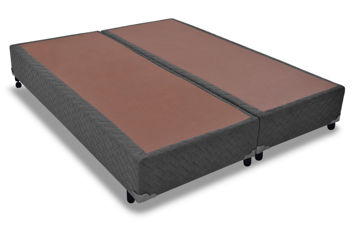 Cama Box Base Probel Suede ÔnixCama Box King Size - 1,93x2,03x0,25 - Sem Colchão