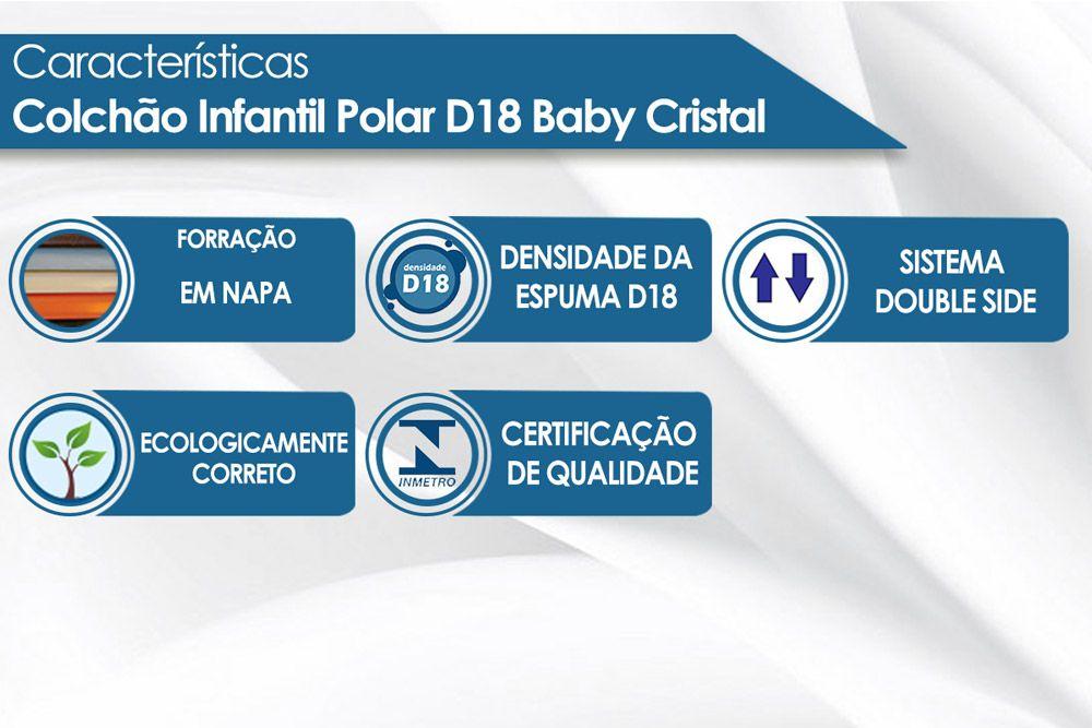 Colchão Polar D18 Baby Cristal Napa Azul