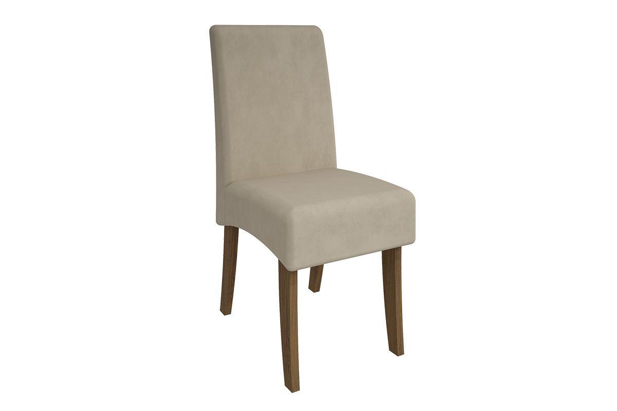 Cadeira Cimol BeatrizCor Nogueira/Novo Savana  -  Assento/Encosto Sued Bege