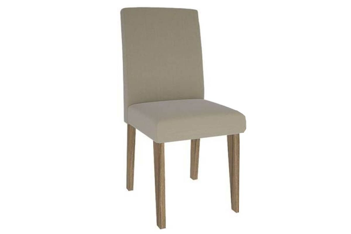 Cadeira Cimol MilenaCor Nogueira/Novo Savana  -  Assento/Encosto Sued Bege