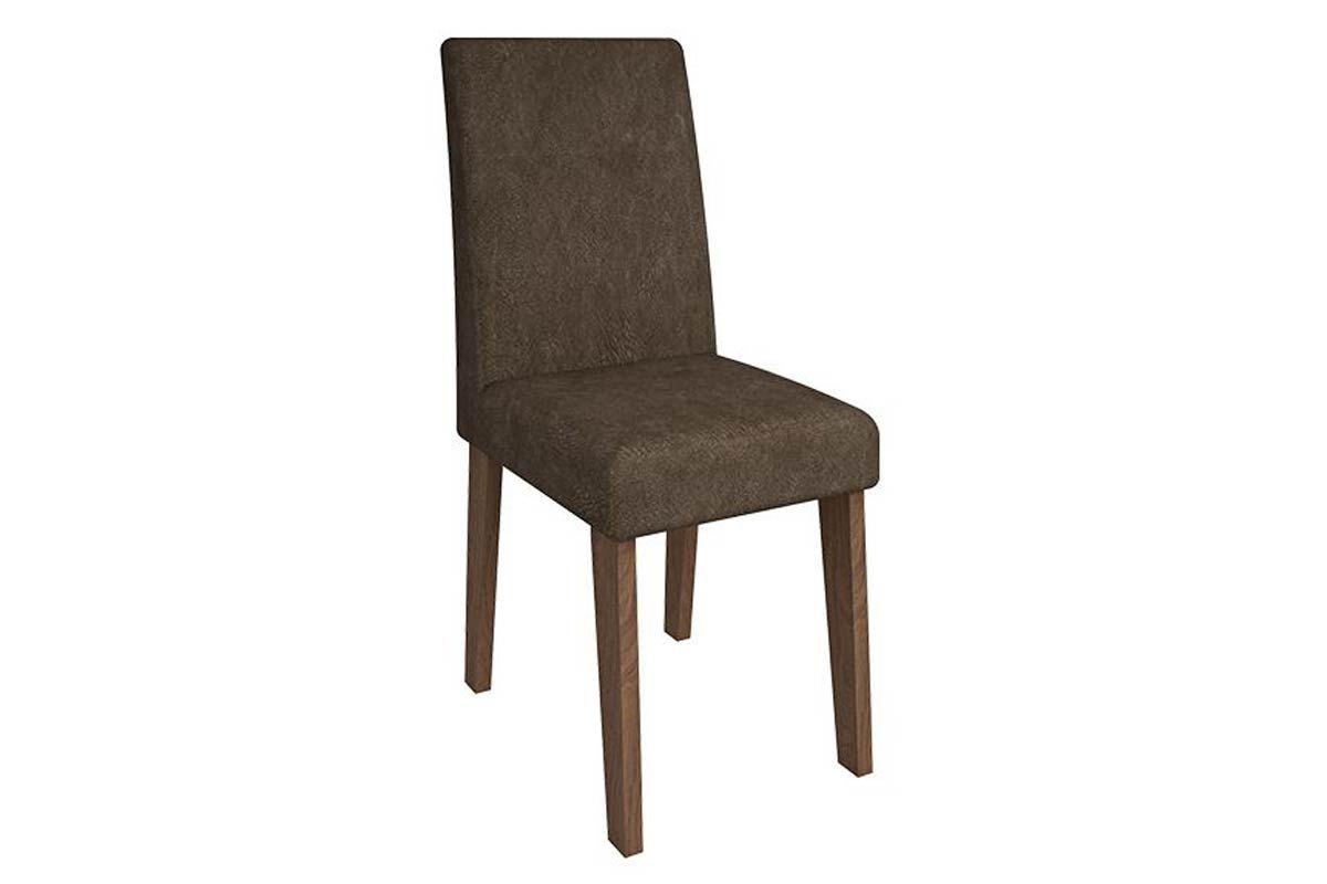 Cadeira Cimol MilenaCor Savana- Assento/Encosto Cacau