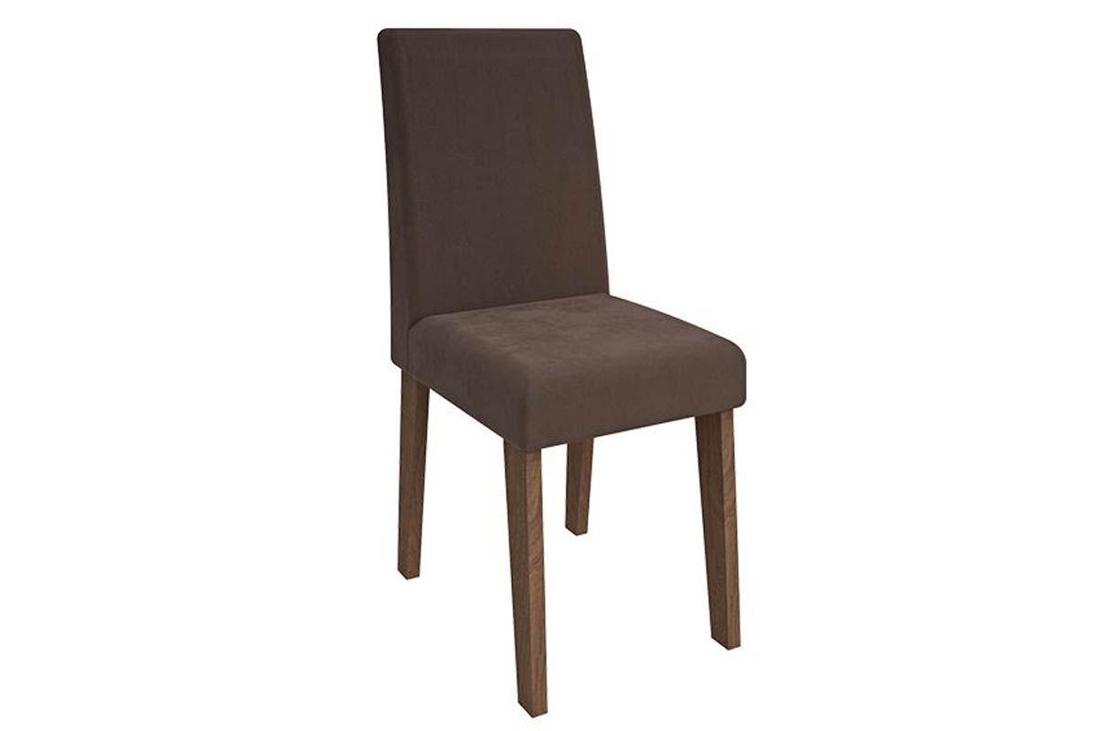 Cadeira Cimol MilenaCor Savana- Assento/Encosto Chocolate