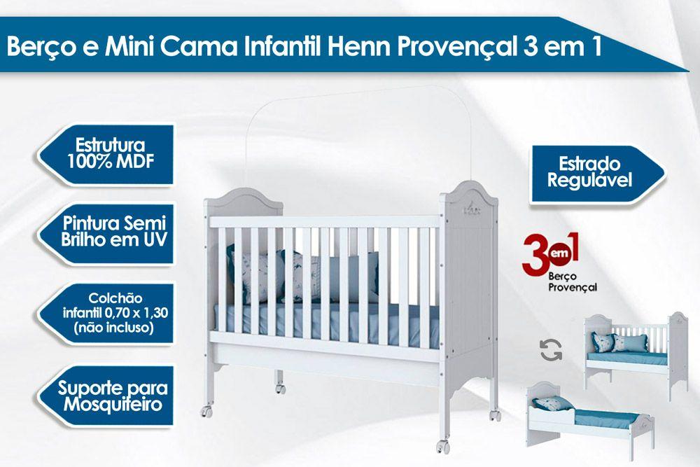 Berço Mini Cama Infantil Henn Provençal