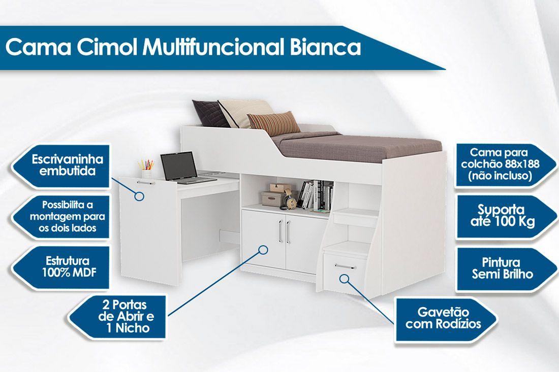 Cama Cimol Multifunção Bianca II