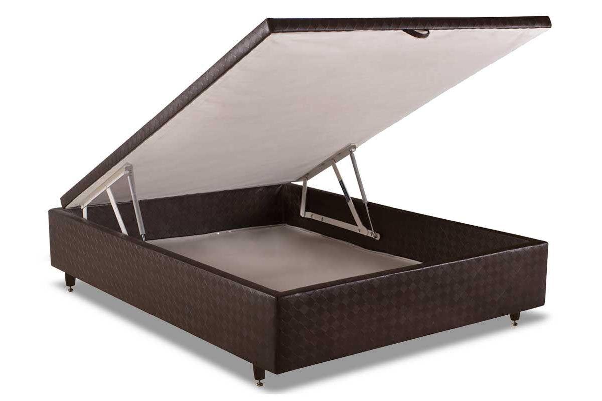 Cama Box Baú Herval MH 1449Cama Box Casal - 1,38x1,88x0,35 - Sem Colchão