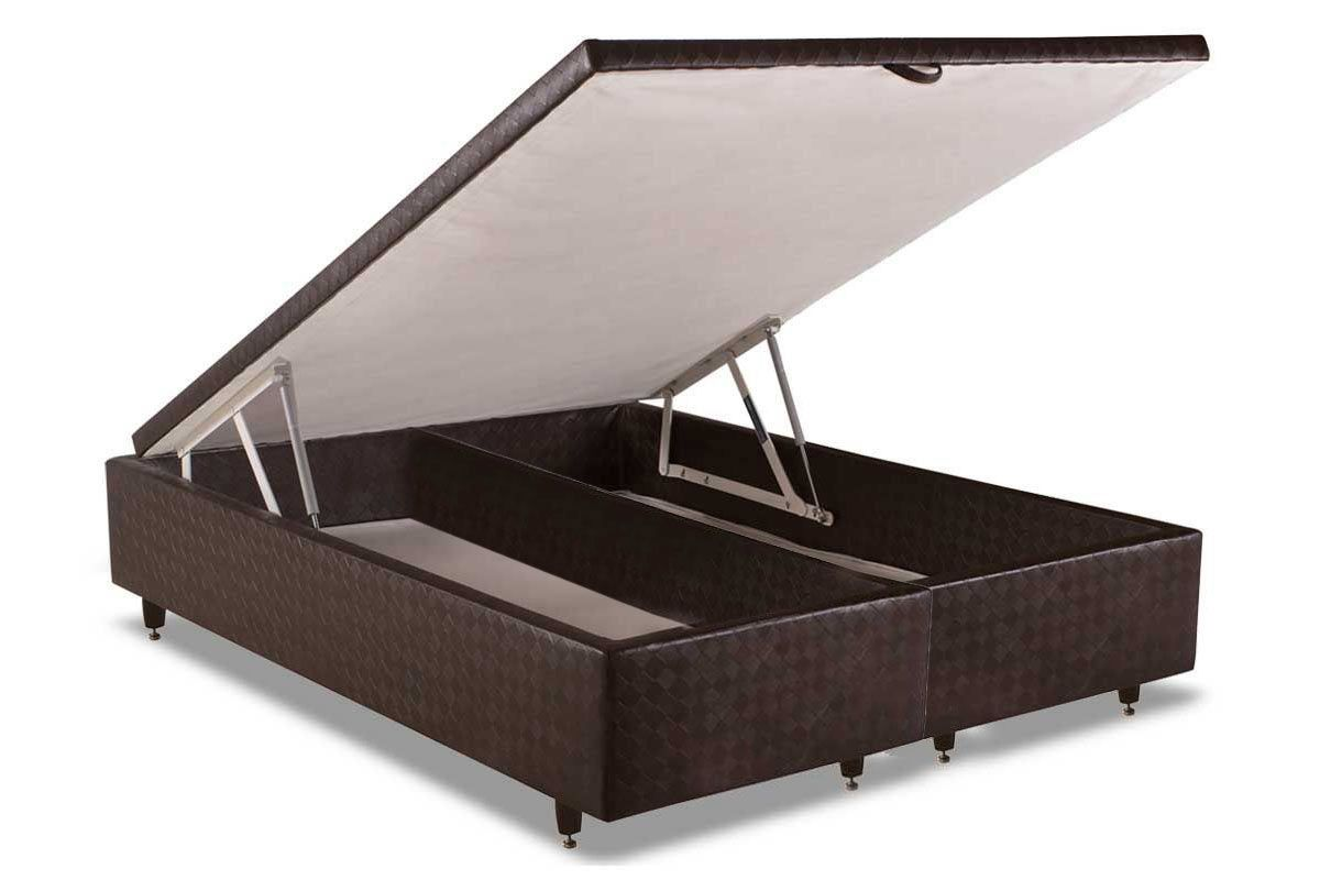 Cama Box Baú Herval MH 1449Cama Box Queen Size - 1,58x1,98x0,35 - Sem Colchão