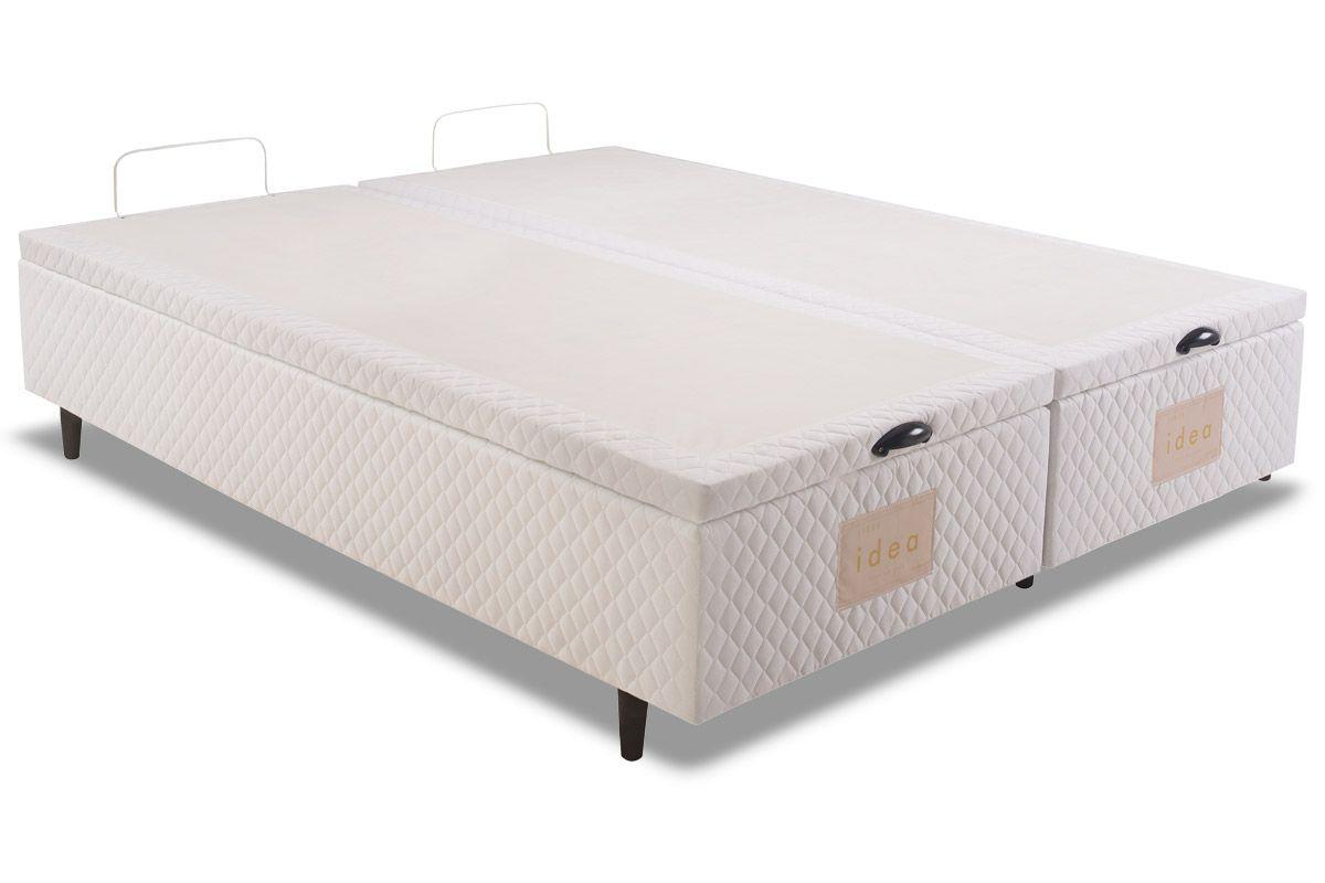 Cama Box Baú Herval MH 1800 IdeaCama Box Queen Size - 1,58x1,98x0,35 - Sem Colchão