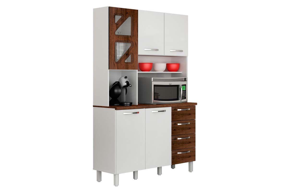 Cozinha Completa Valdemóveis Infinity (Armário Gabinete) #A92322 1200 800