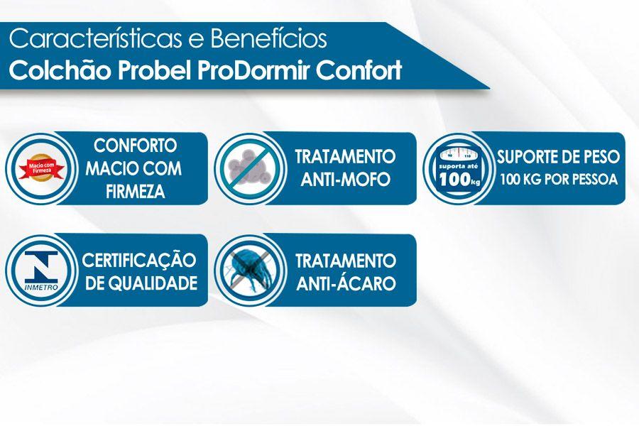 Colchão Probel Molas Prolastic ProDormir Confort