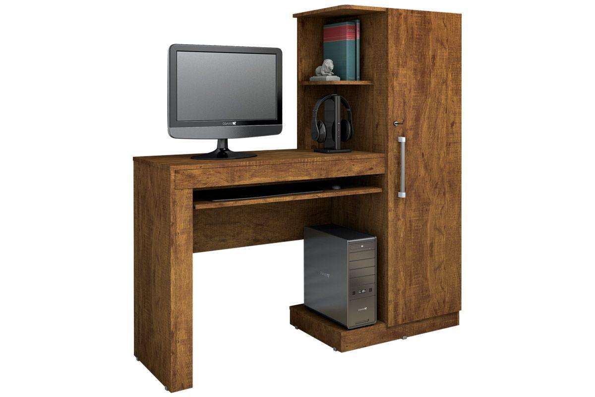 Escrivaninha Valdemóveis OfficeCor Ipê/Ipê